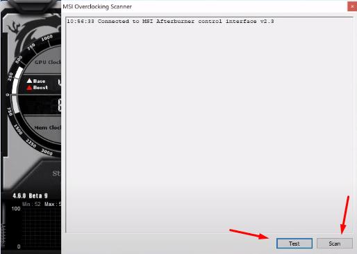 MSI overclocking scanner