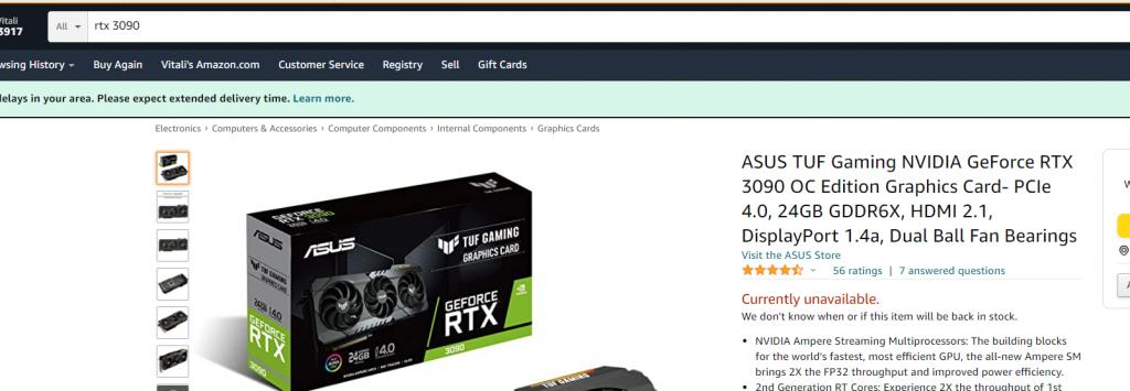 RTX 3090 shortage