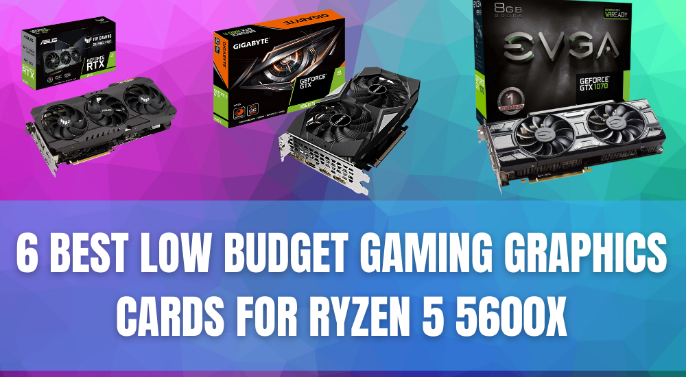 6 Best Low Budget Gaming Graphics Cards for Ryzen 5 5600x
