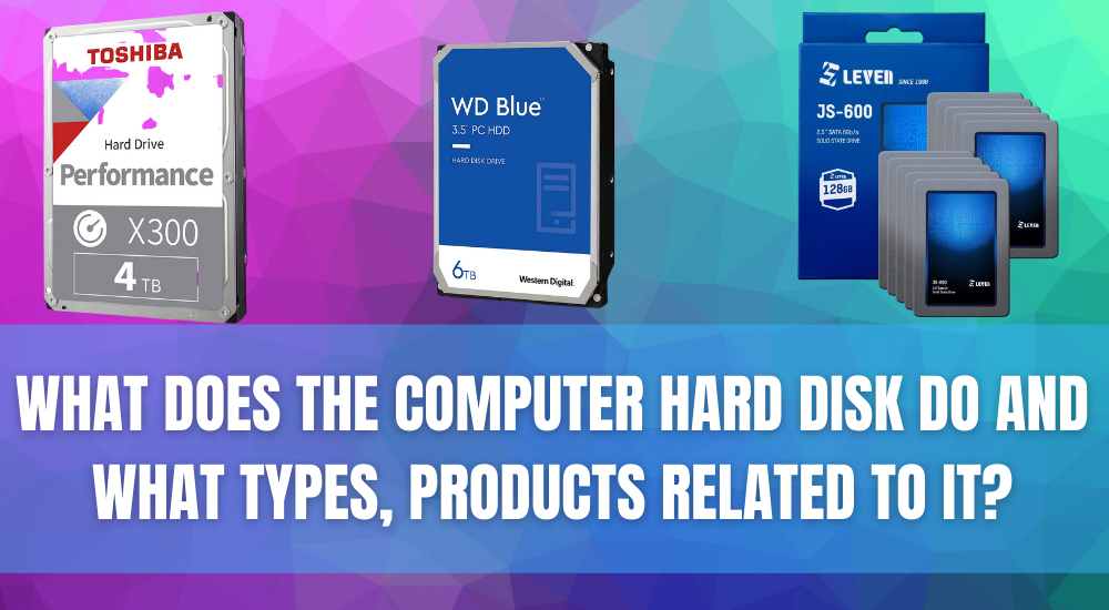 What Does The Computer Hard Disk Do And What Types, Products Related To It?